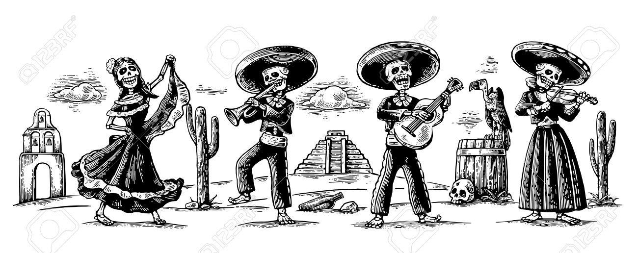 Image Result For Dia De Los Muertos Mariachi Band Dia De Los Muertos Tattoo Mexican Heritage Tattoos Day Of The Dead