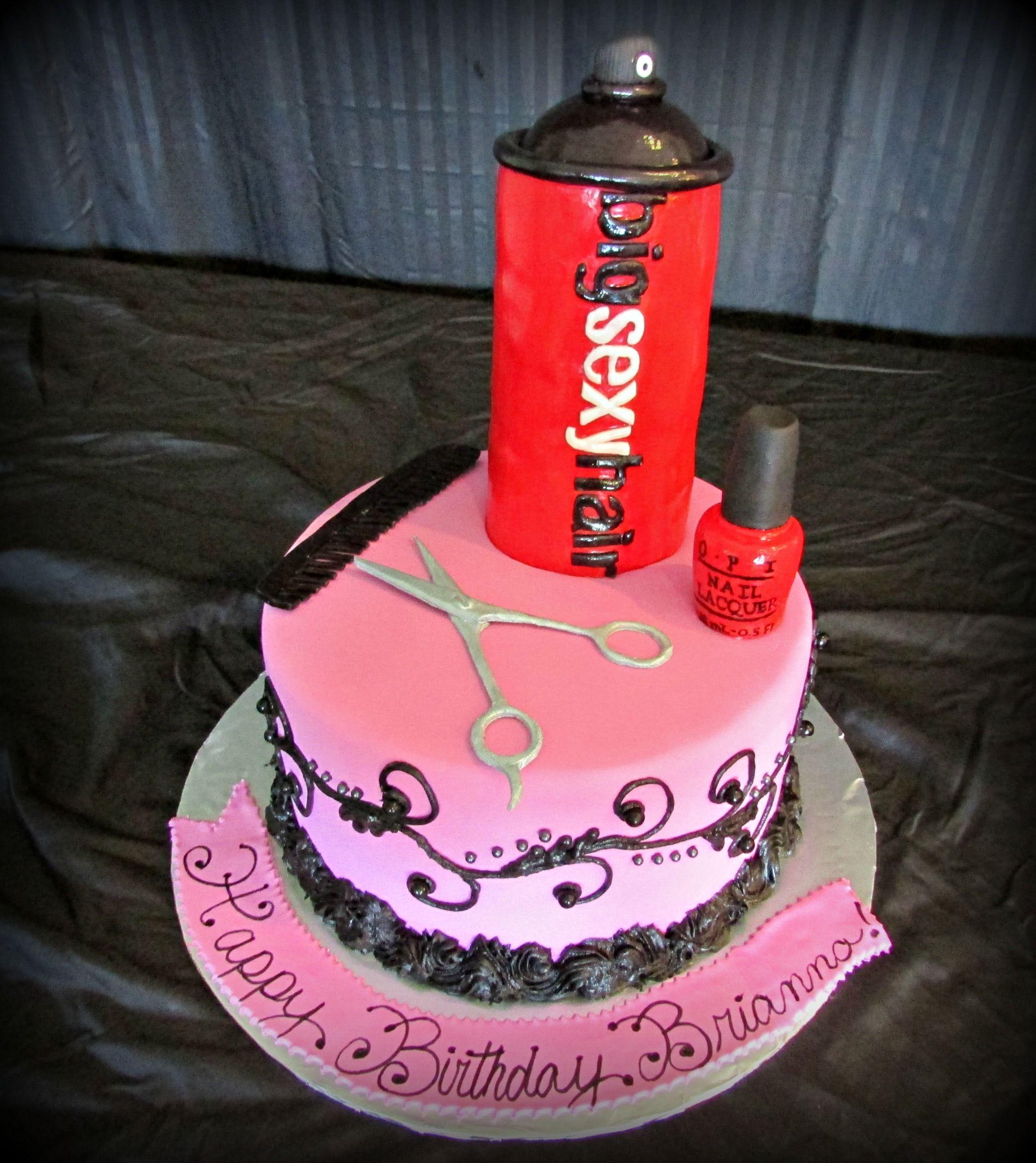 Birthday Cake for a Hair Stylist eet