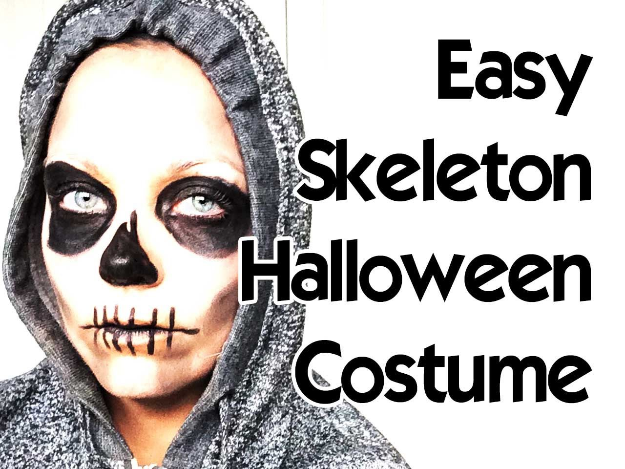 How To a Skeleton for Beginners Makeup tutorial