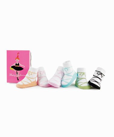 Ballerina Bow Geschenkset in Box Trumpette Baby-Socken