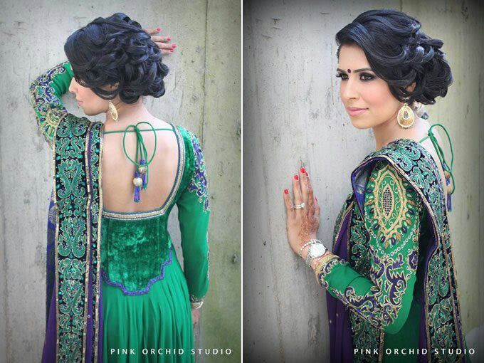 Beautiful Mehndi Hairstyles : Beautiful mehndi suit asian wedding wear