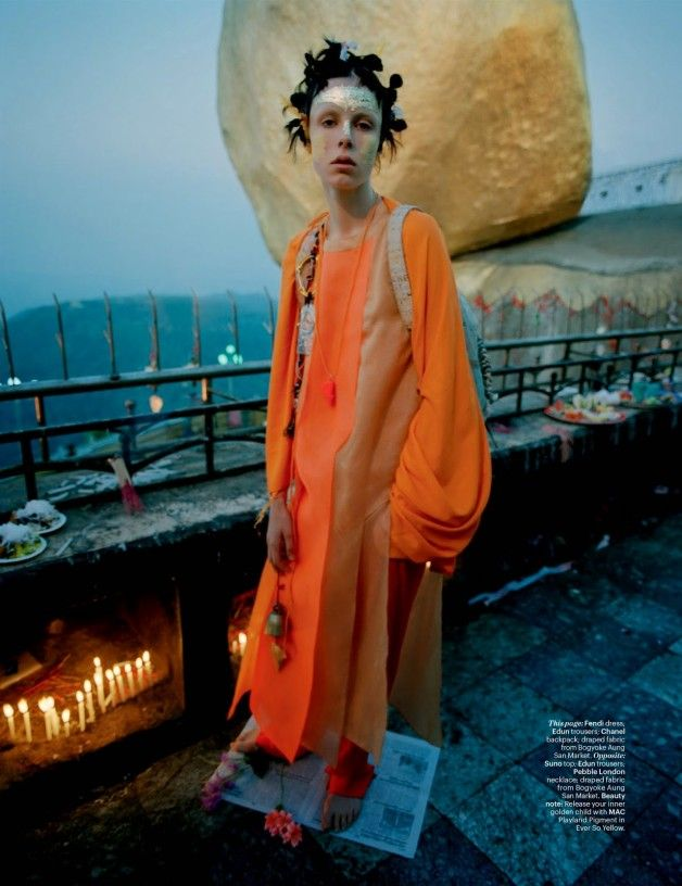 Edie Campbell in 'Gilt Trip' by Tim Walker W Magazine 18