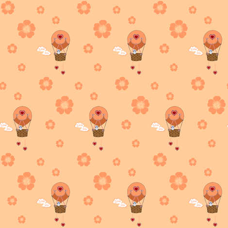 hotair balloon fabric by krs_expressions on Spoonflower - custom fabric and wallpaper