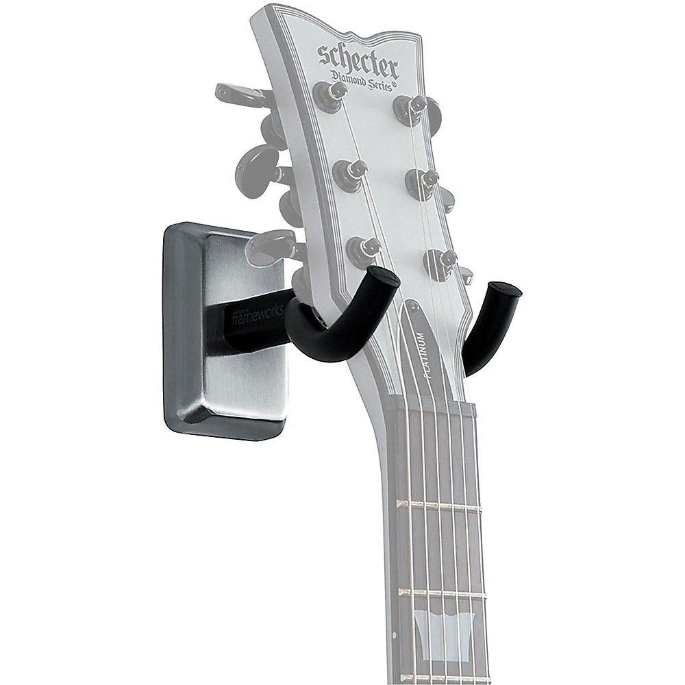 Gator Wall Mount Guitar Hanger Chrome Grey In 2019