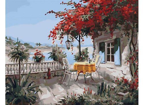 Картина по номерам «Вид на море» | Садово парковое ...