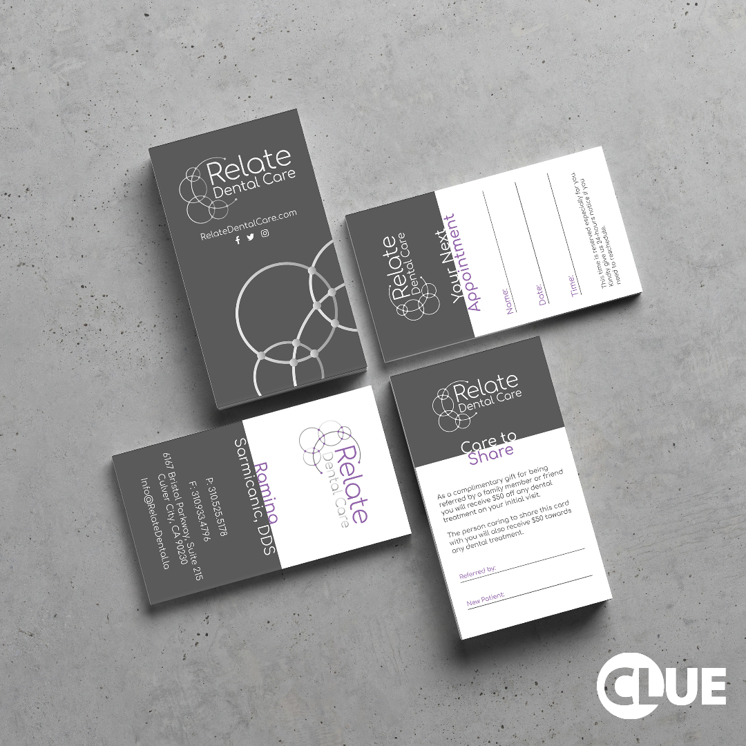 Check Out These Beautiful Business Cards That We Recently Designed For Relatedentalcare Busine Beautiful Business Card Business Card Design Dental Marketing