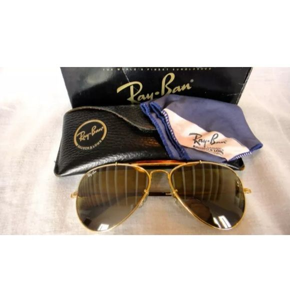 Authentic Rayban NEW VINTAGE RAY BAN ULTRA BRAVURA GOLD FRAME. POLARIZED RB  50 MIRRORED LENSES 2011ffbe3d1