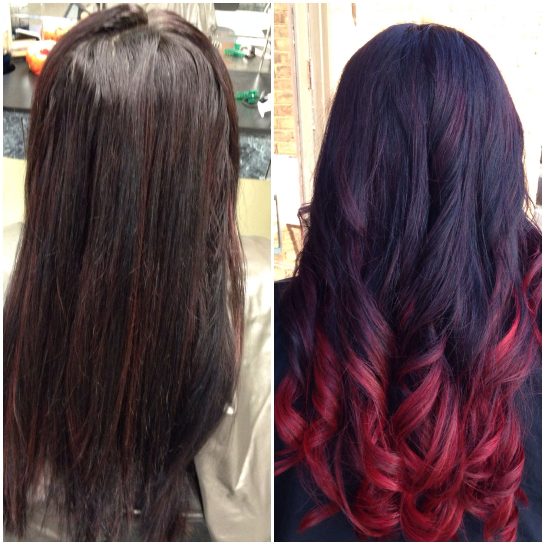 Before And After Ombre Pittsburgh Pa Stylist Kara Confetti S Hair And Body Studio Hair Hair Styles Long Hair Styles