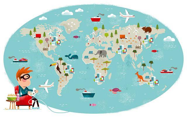Migros Editorial Illustration Editorial Illustration World Map