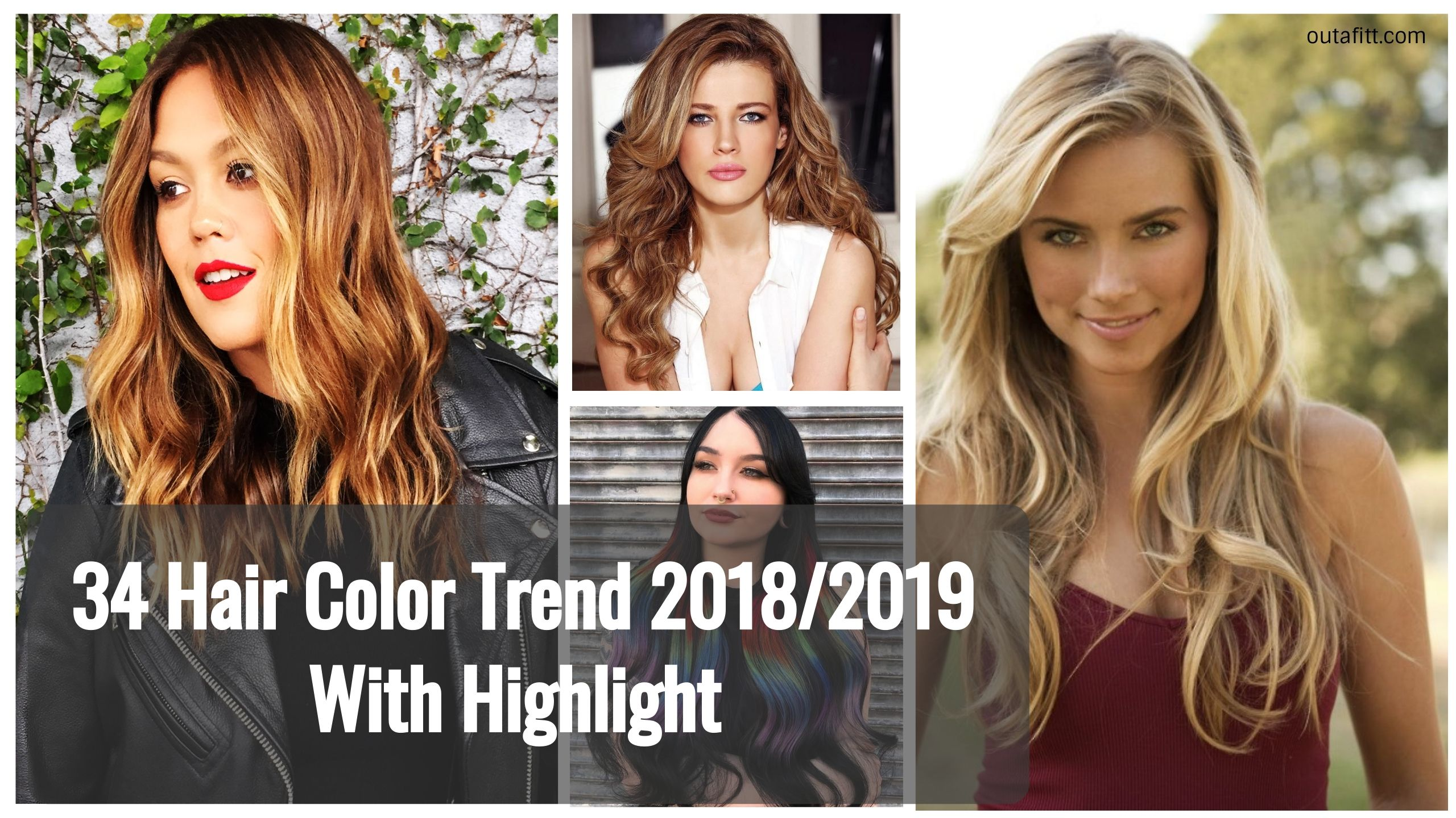hair color trend with highlight hairstyle pinterest