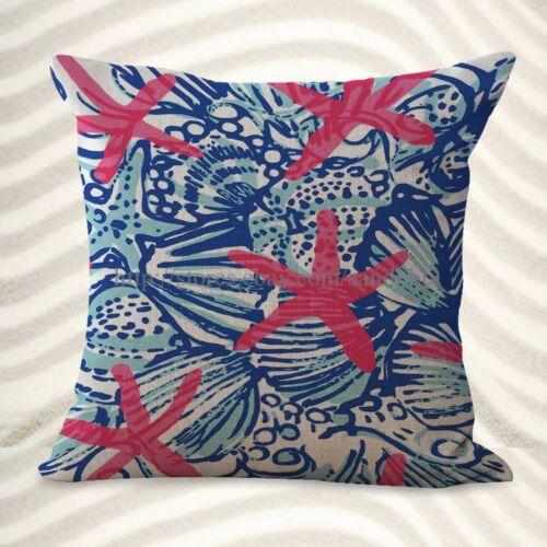 pillow couch covers ocean marine nautical star fish cushion cover