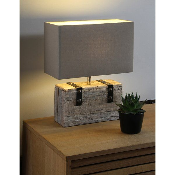 Marshtown 44cm Table Lamp Wooden Table Lamps Rustic