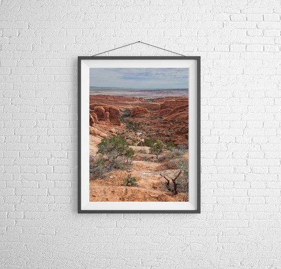 Fine Art Photography Print - Landscape, Nature - Valley at Arches National Park - Utah, USA #utahusa