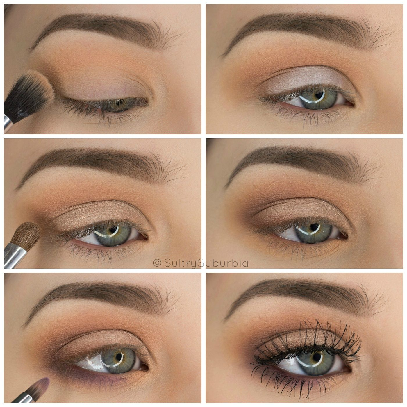 simple and pretty step by step neutral eyeshadow tutorial