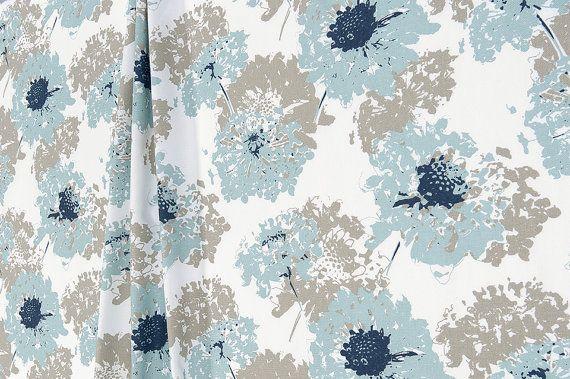 Spa Blue Curtains Fairy Flowers Custom Curtains Pair Drapery Panels Curtains 24 Wide 52 Wide Custom Curtains Drapery Panels Blue Curtains