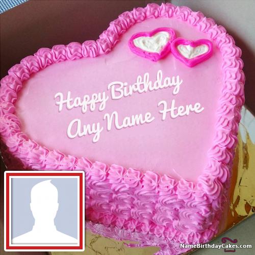 Wondrous Romantic Birthday Cake For My Boyfriend With Photo With Images Funny Birthday Cards Online Elaedamsfinfo