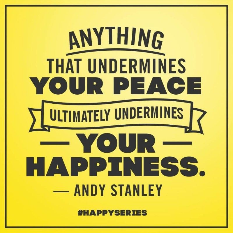 Inspirational Quotes About Failure: Anything That Undermines You Peace Ultimately Undermines
