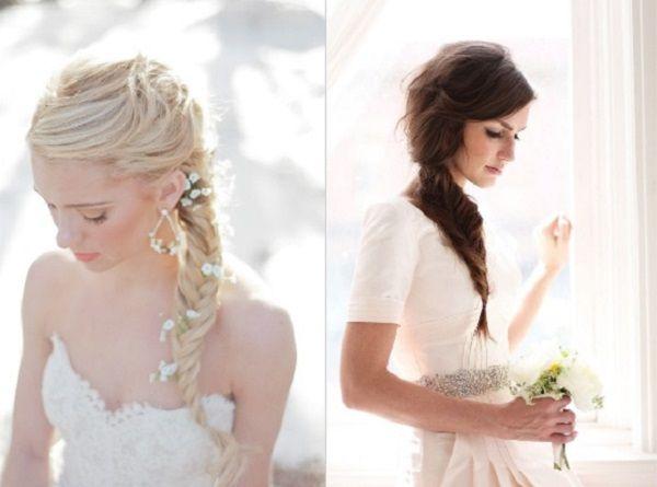 Coiffure de mariage tresses tresse sur le cote coiffures de mariage et les cotes - Coiffure mariage tresse ...