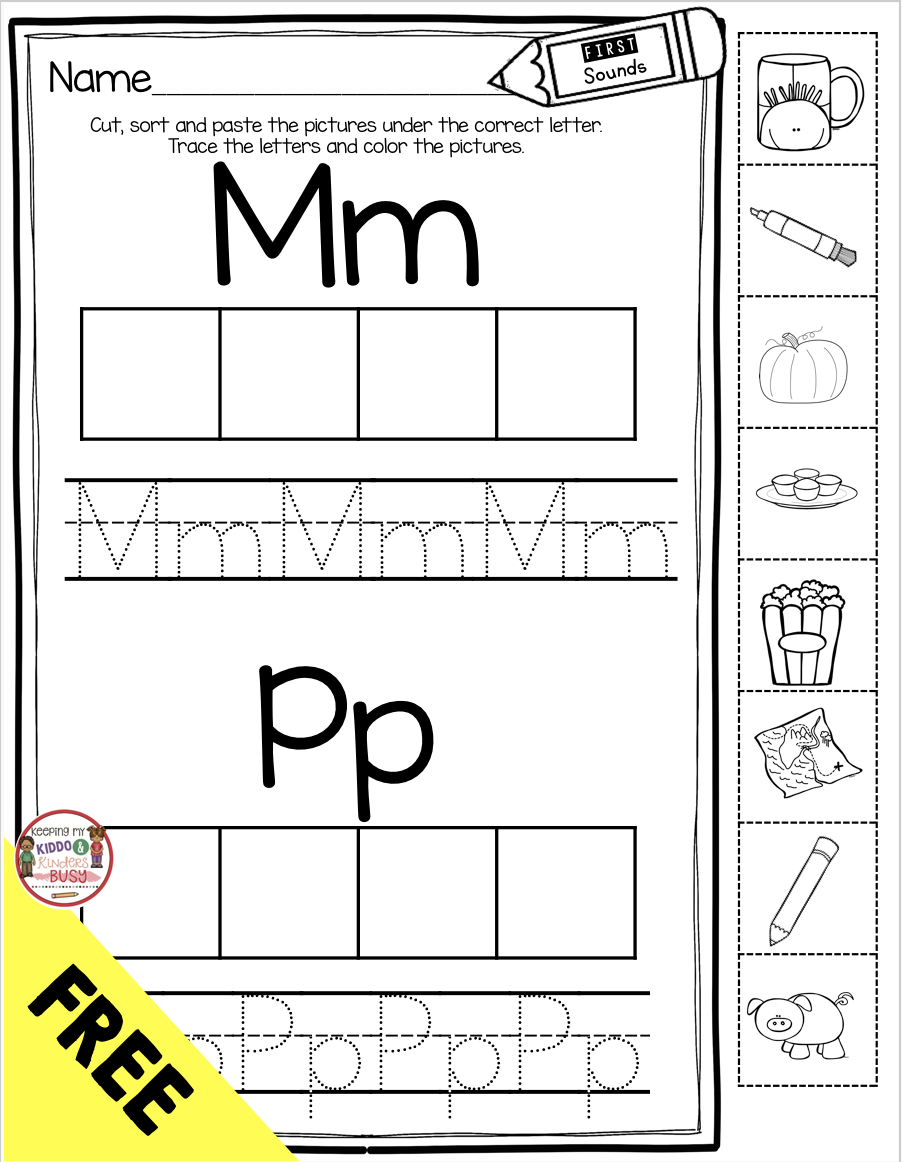 Teaching First Sounds Complete Unit With Freebies Keeping My Kiddo Busy Phonics Kindergarten Phonics Worksheets Free Phonics Free [ 1162 x 902 Pixel ]