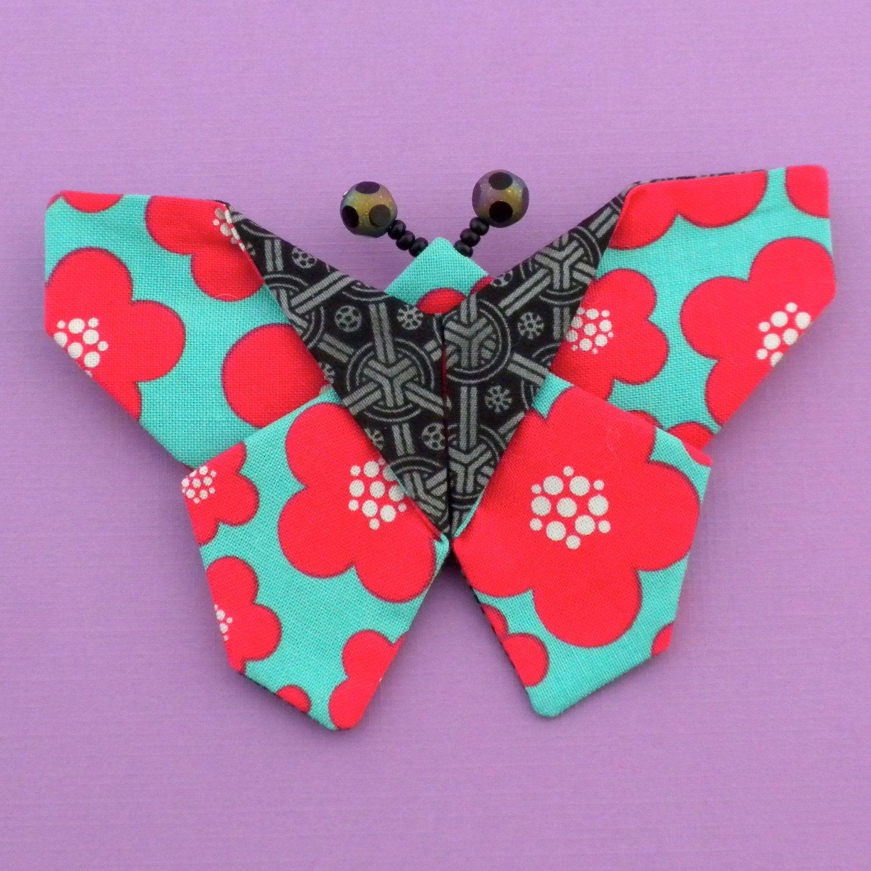 Kanzashi Butterfly Pattern Fabric Origami Butterfly Tutorial Etsy Butterfly Tutorial Fabric Butterfly Origami Butterfly Tutorial