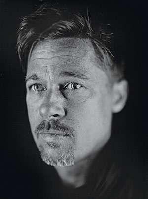 Black White Goth Celebtography Brad Pitt Chuck Close Portrait