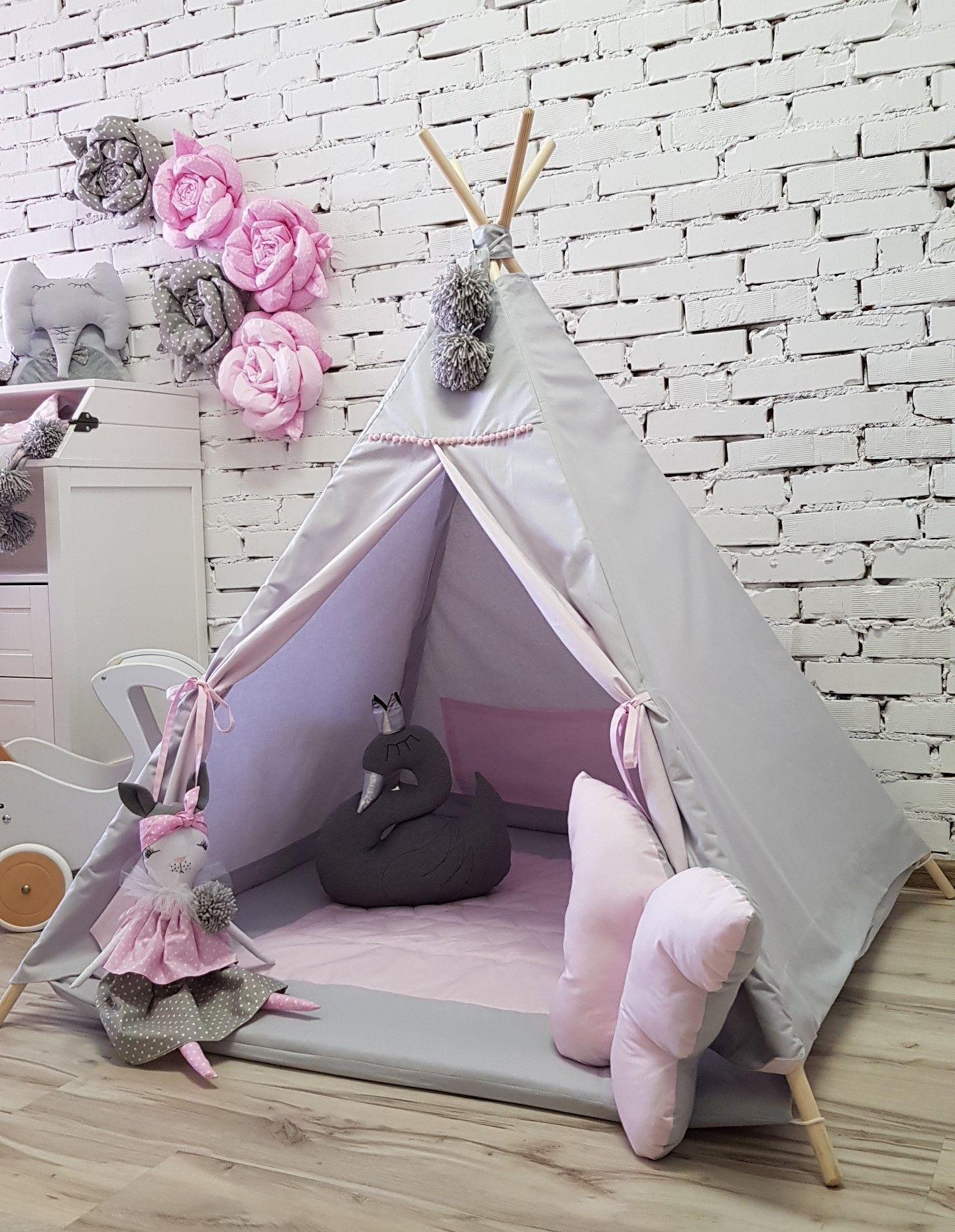 Namiot Dla Dzieci Tipi Mata Poduszki Bajkowe 7883467654 Oficjalne Archiwum Allegro Teepee Kids Play Tent Childrens Tent