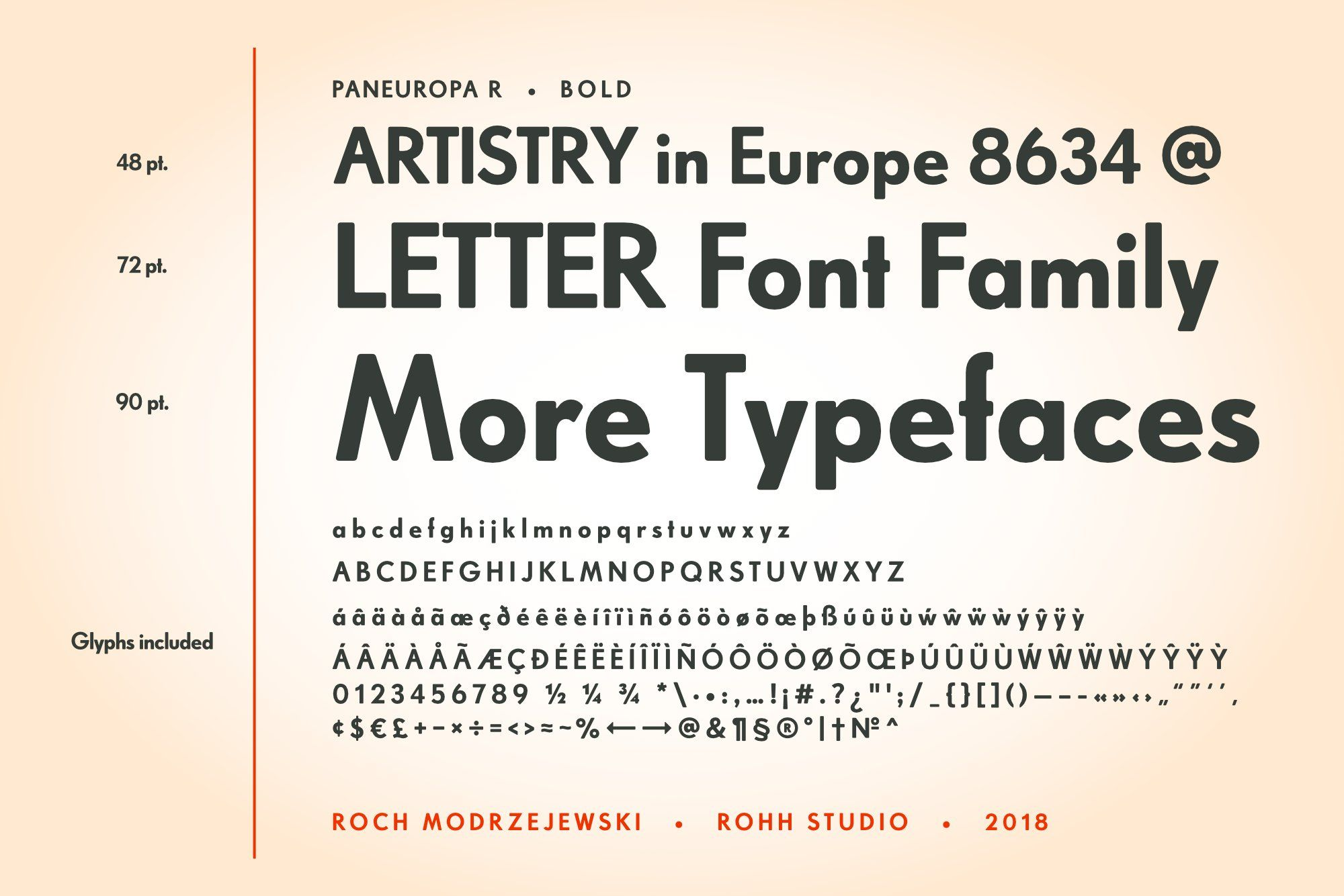 Rp Paneuropa Retro Geometric Sans Geometric Typeface Lettering Fonts