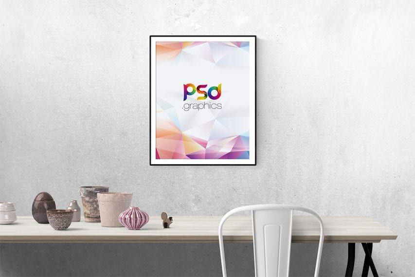 Download Wall Poster Frame Free Psd Mockup Wall Poster Frame Poster Frame Frame Mockups