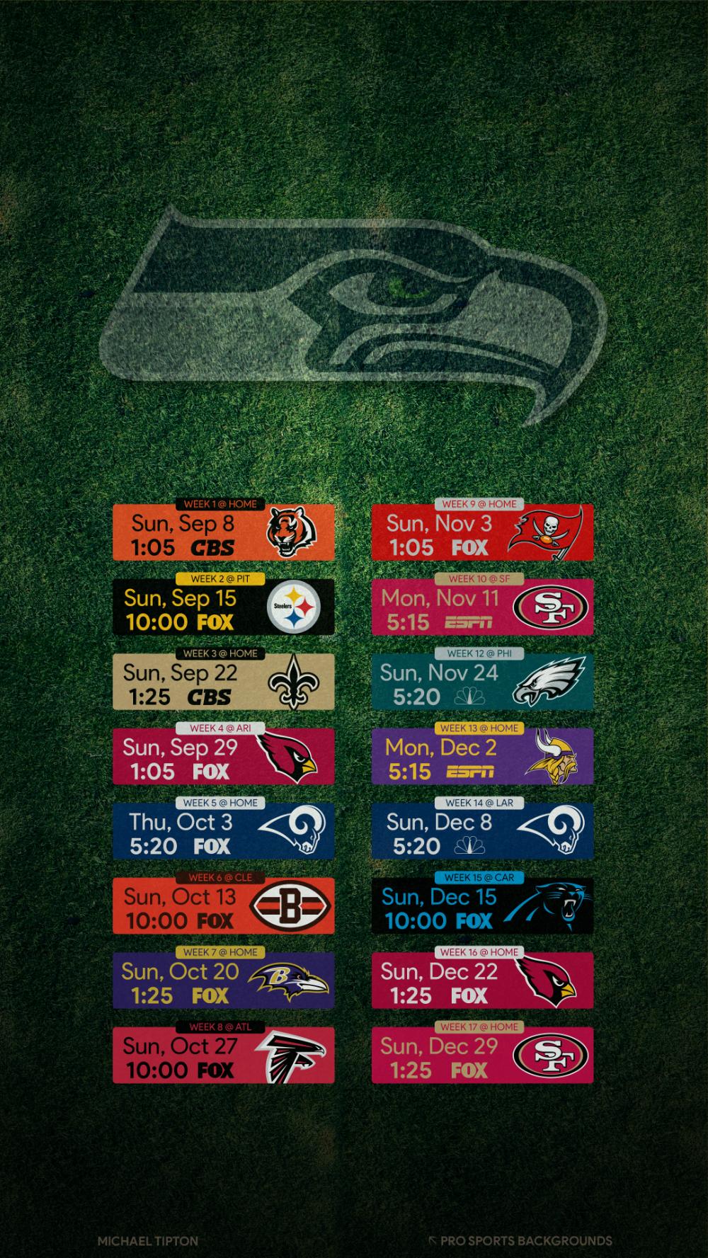 2019 Seattle Seahawks Wallpapers Pro Sports Backgrounds