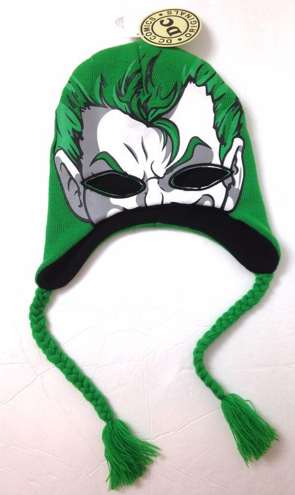 finest selection 5f371 cc75d New Batman THE JOKER FACE MASK BEANIE Eye-Hole Peruvian Winter Knit Ski Hat  Mens  DCComics  Beanie
