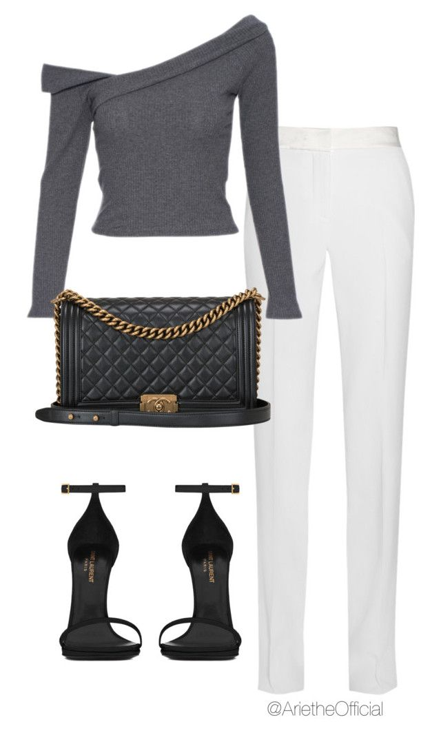 """""""Untitled #10"""" by arietheofficial ❤ liked on Polyvore featuring Thierry Mugler, Yves Saint Laurent, Chanel, saintlaurent, ArietheOfficial and Ariethe"""