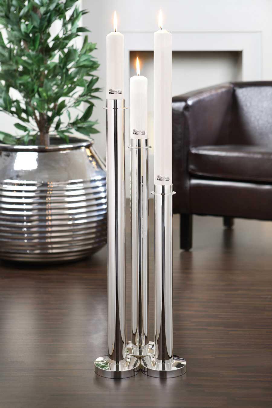 fink living kerzenleuchter titan fink silber. Black Bedroom Furniture Sets. Home Design Ideas