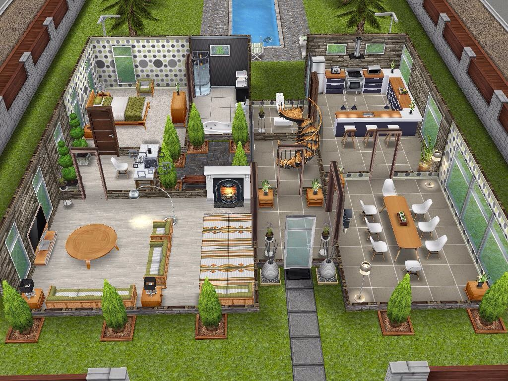 House 12 ground level sims simsfreeplay simshousedesign   Sims ...