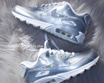 premium selection 17c10 432fe Nike Air Max 90 chaussures en cuir SE fait avec des cristaux