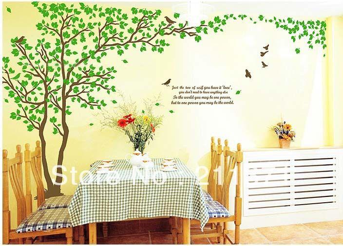 Big Lover Tree wall sticker words quotes design Large wall decal ...