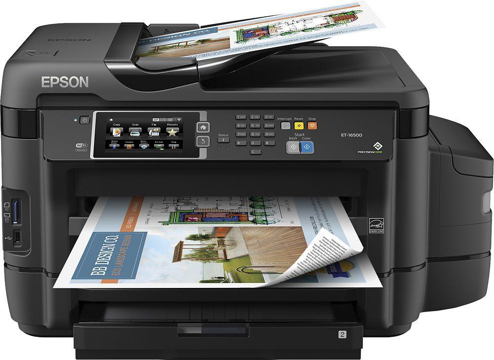 Epson Workforce Et 16500 Ecotank Wide Format Wireless All In One Inkjet Printer Black Epson Inkjet Printer Printer