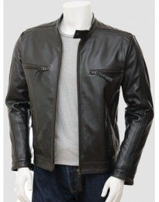 Black Biker Leather Jacket  by styloleather.com