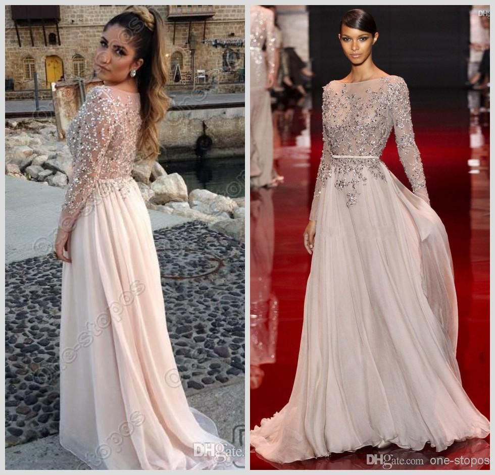 Discount elie saab sparkly crystal beads pageant dresses long