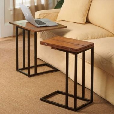 Brilliant Expandable Tv Dinner Tray Side Table Darker Finish Is Gmtry Best Dining Table And Chair Ideas Images Gmtryco