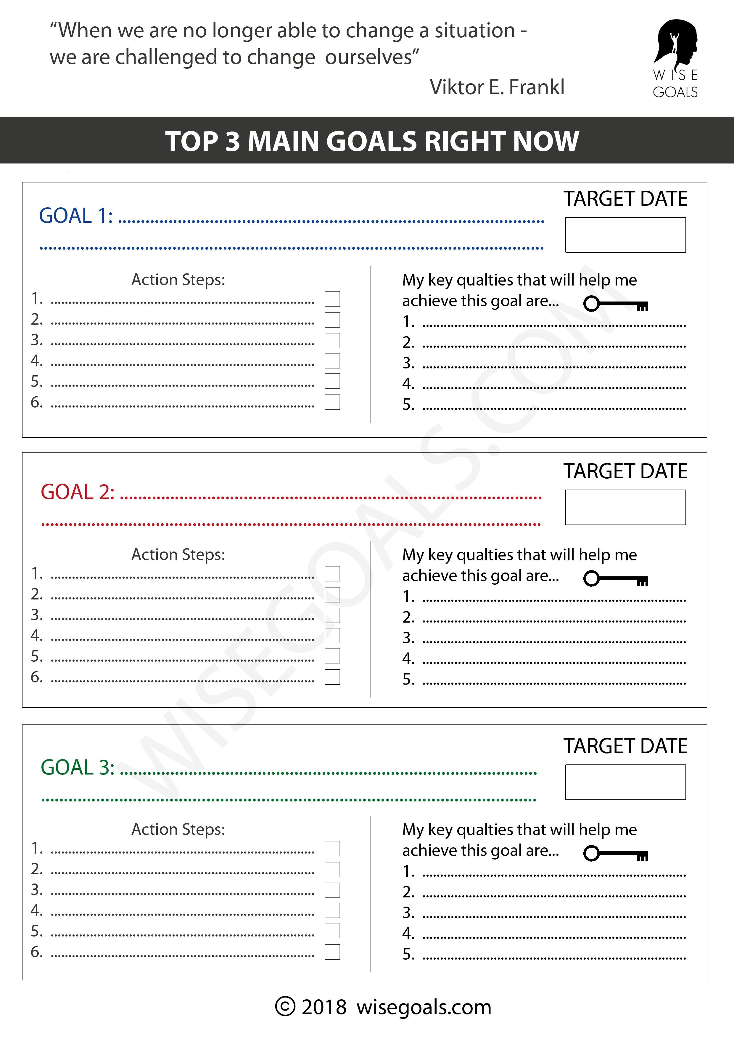 Goal Setting Templates To Move One Step Closer To