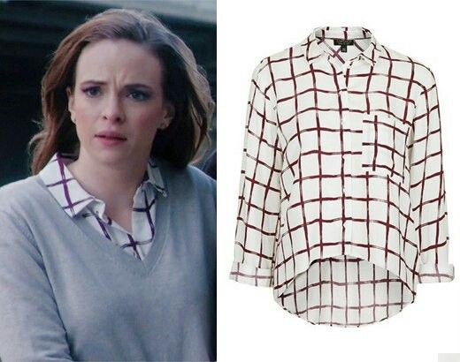 This shirt is soft, a little delicate, and great by itself or under a sweater.
