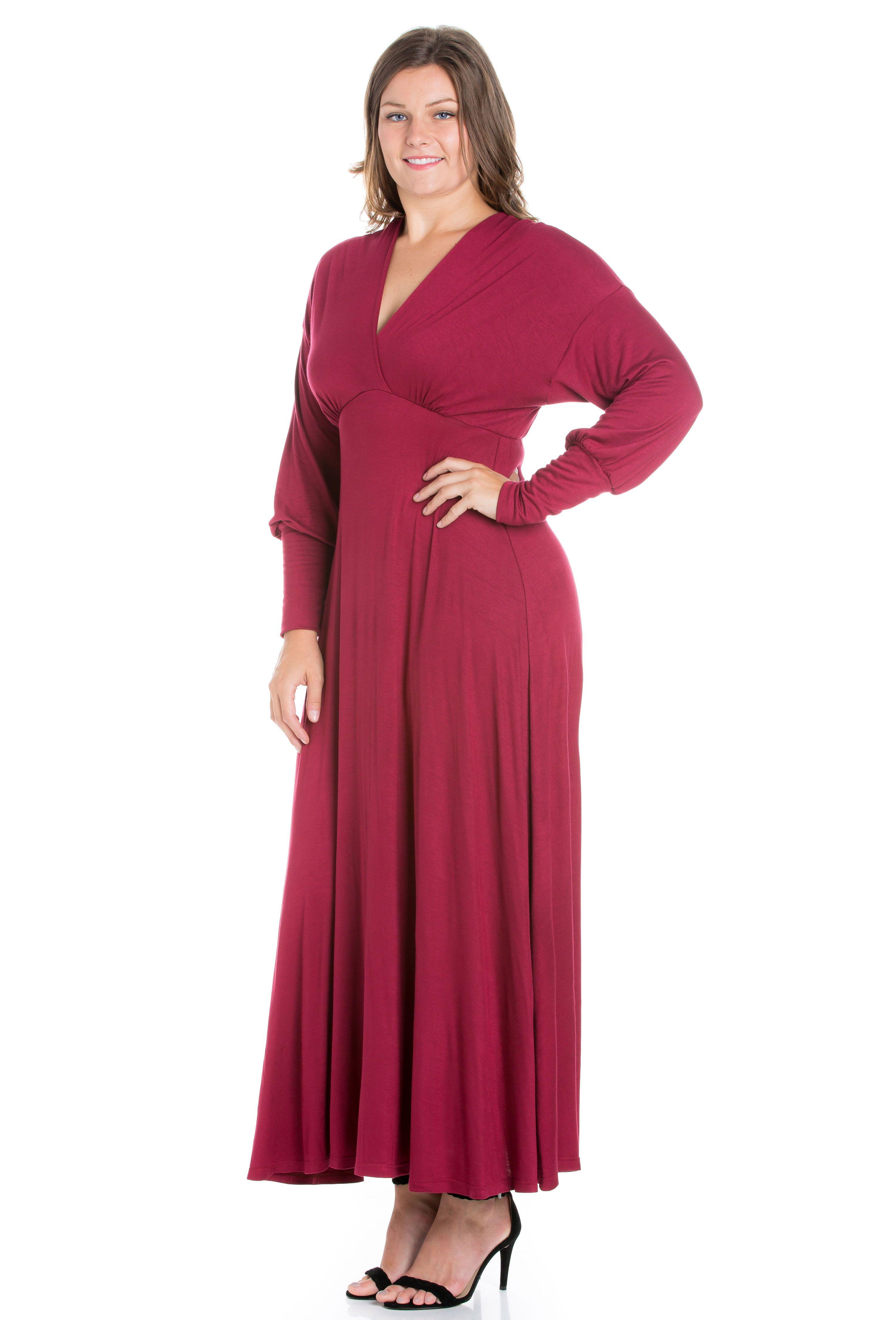 24 7 Comfort Apparel 24 7 Women S Plus Size Comfort Apparel Elbow Length Sleeve Plus Size Maxi Dress Walmart Com Maxi Dress With Sleeves Plus Size Maxi Dresses Maxi Dress [ 4500 x 3000 Pixel ]