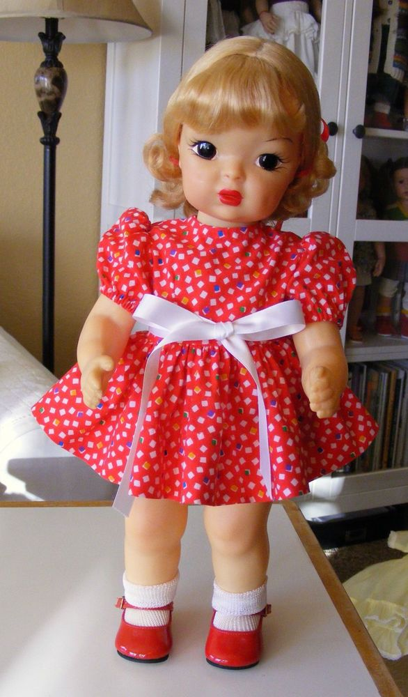 "/""PUMPKIN HARVEST/""  DRESS AND PINAFORE  FOR 16/"" TERRI LEE DOLL"