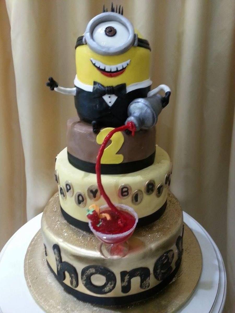 Minion Bartender Hbs 4th Birthday Pinterest Bartenders Cake
