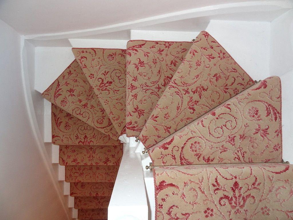 Brintons Carpets Laura Ashley Malmaison Raspberry Stair