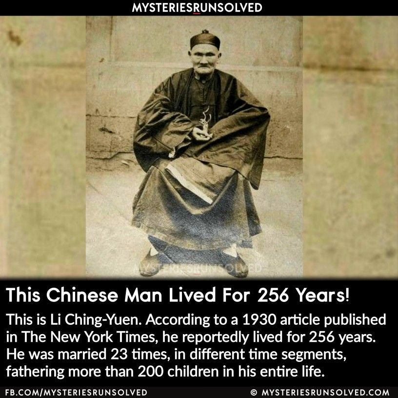 Li Ching Yuen History Facts Interesting Fun Facts Scary Facts