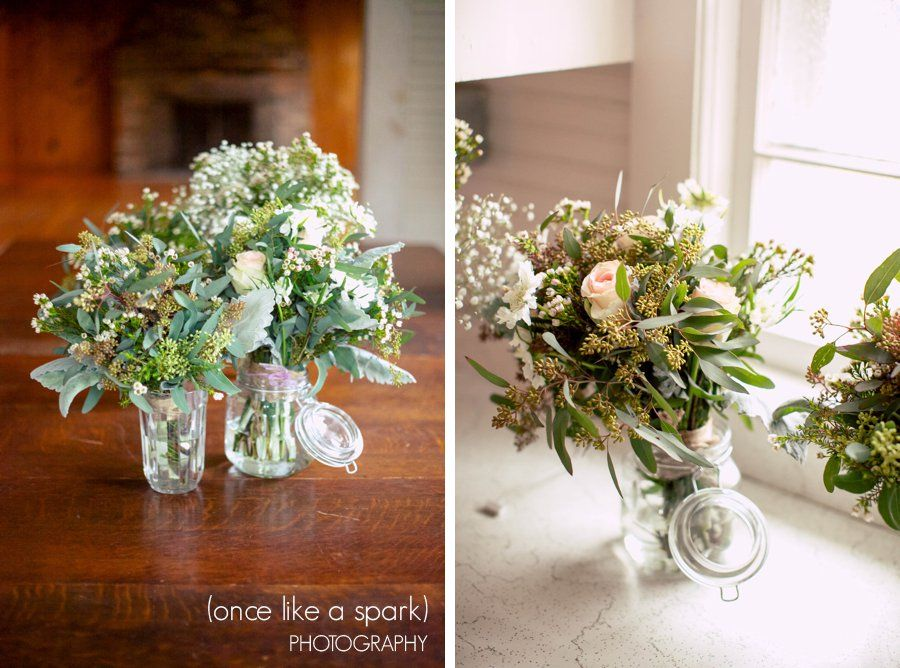 Glass jars gorgeous flowers whimsical floral
