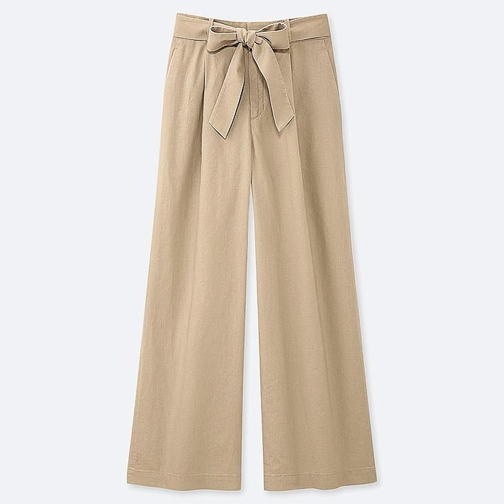 Photo of Women Linen Trousers | UNIQLO