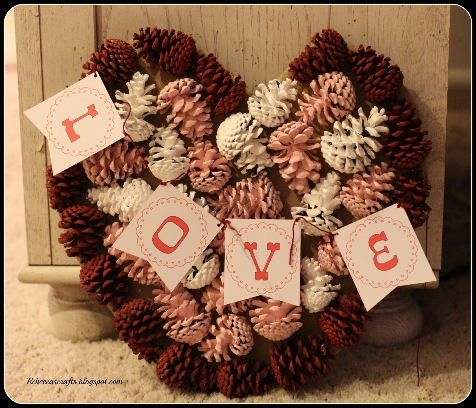 diy home decor pinecone wreath january february march decor 12950