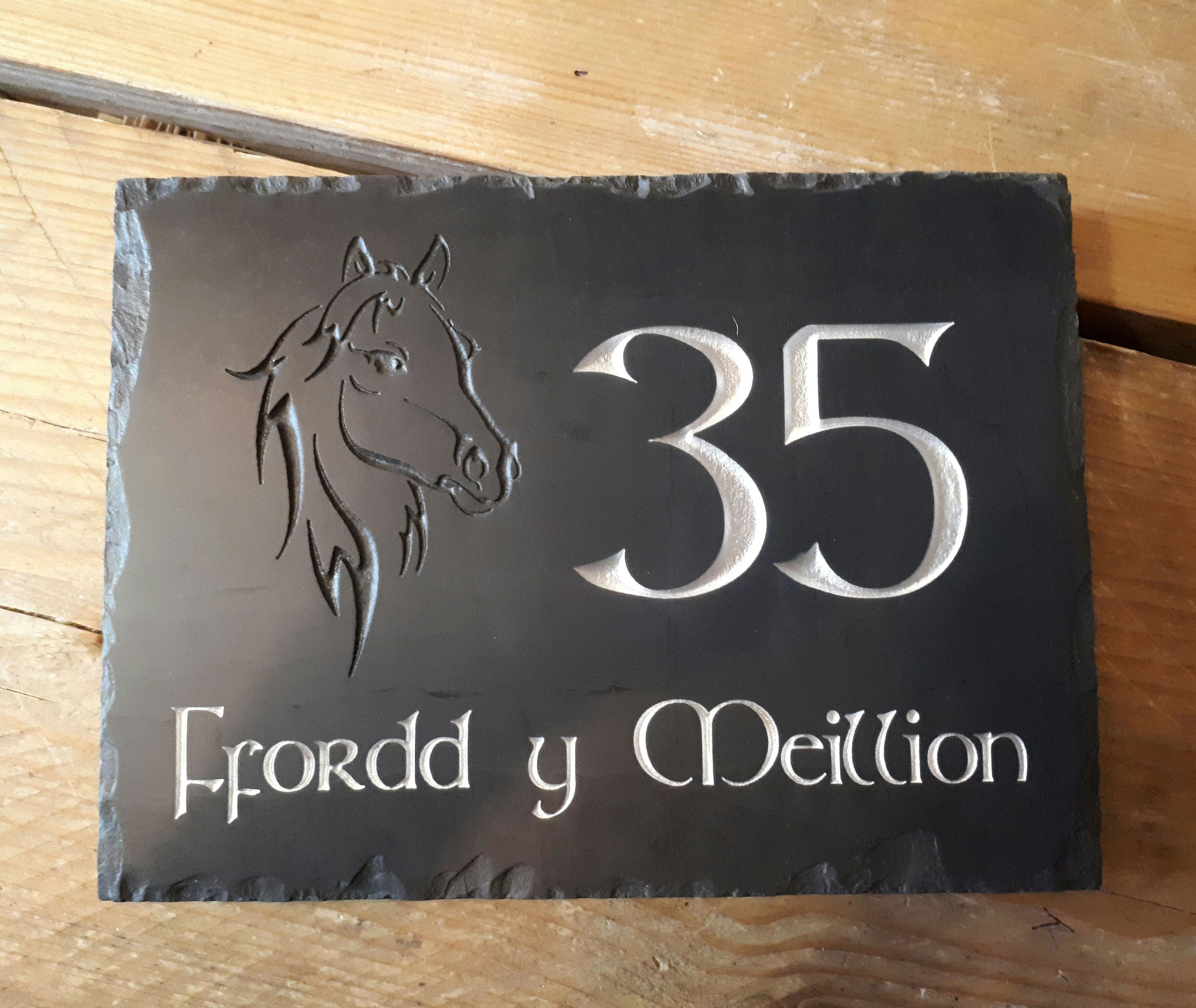 Our Welsh Slate House Signs Have Been Really Popular Over The